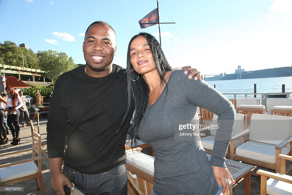 Chauncey Hamlett and Desiree Perez attend the Jay-Z And Beyonce Summer Ends With D'USSE Cognac Cocktails Celebration at La Marina Restaurant Bar Beach Lounge on September 23, 2012 in New York City.