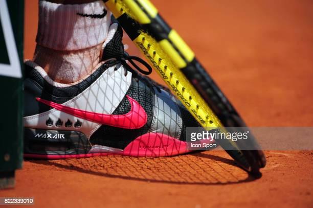 Chaussures de Rafael NADAL avec ses 4 titres a Roland Garros Roland Garros 2009