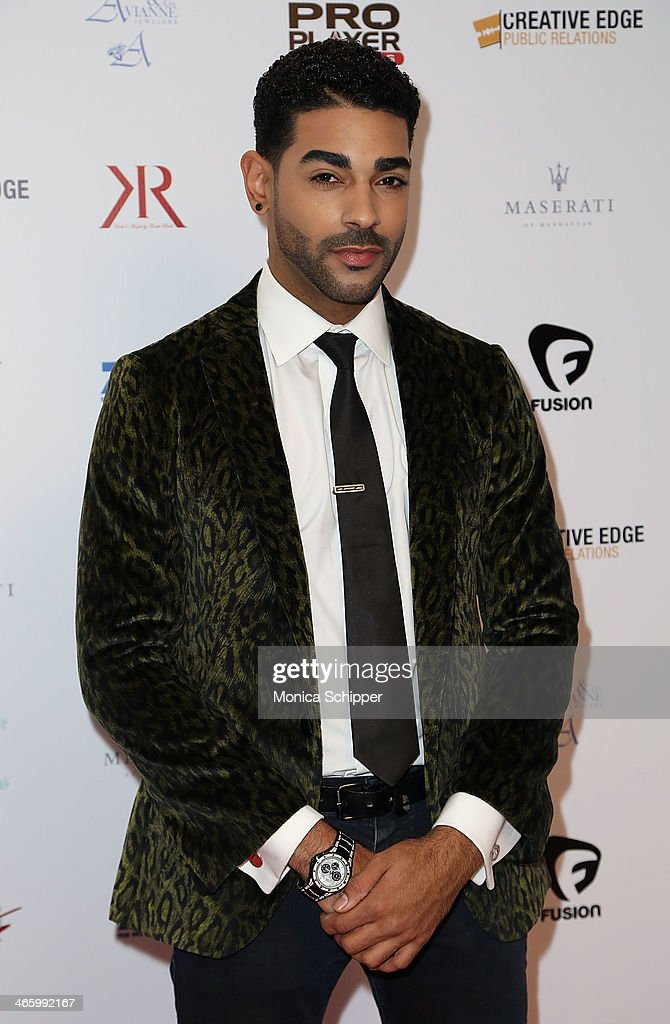 Chavis Aaron attends the 7th Annual Music Meets Fashion Event on January 30, 2014 in New York City.