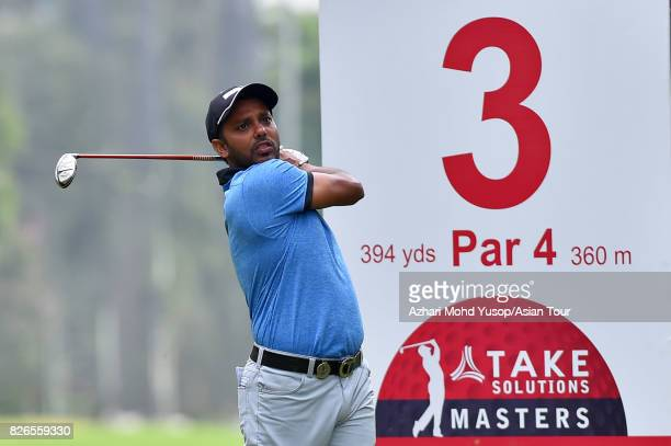 Chawrasia of IND plays a shot during practice ahead of the TAKE Solutions Masters at Karnataka Golf Association Golf Course on August 2 2017 in...