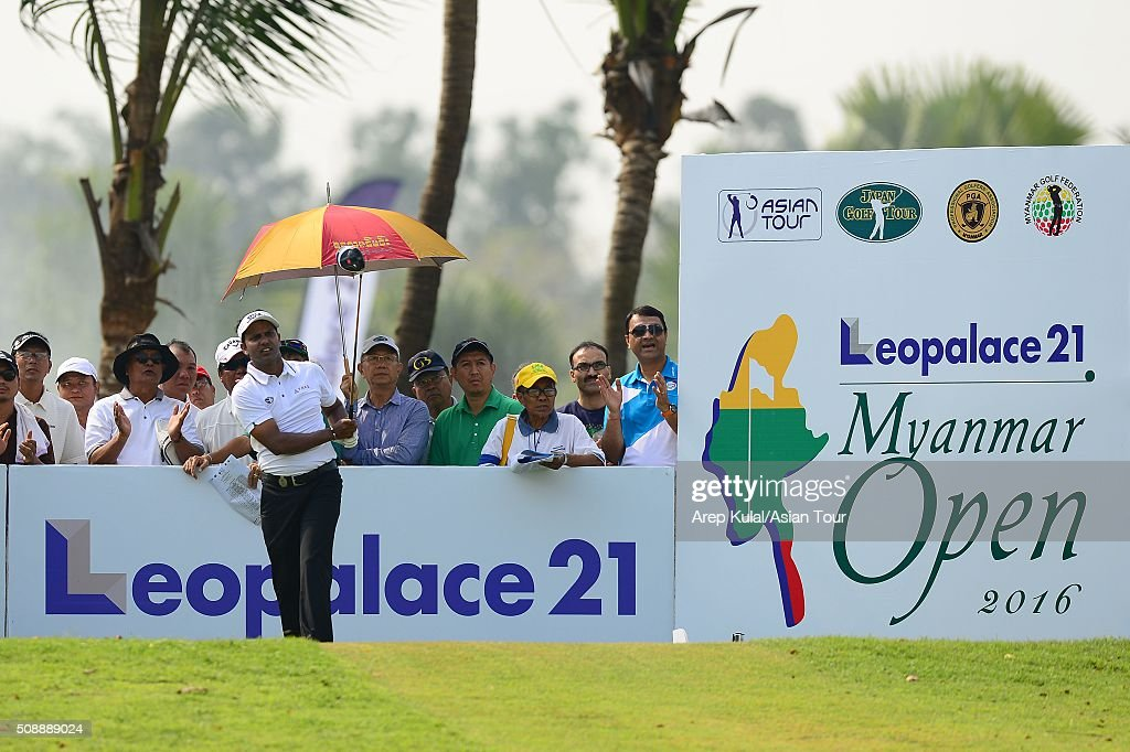 Chawrasia of India pictured during the final round of the Leopalace21 Myanmar Open at Royal Mingalardon Golf and Country Club on February 7, 2016 in Yangon, Myanmar.