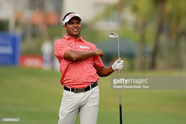 Chawrasia of India plays a shot during the ProAm ahead of the Indonesia Open at Damai Indah Golf Pantai Indah Kapuk Course on December 3 2014 in...