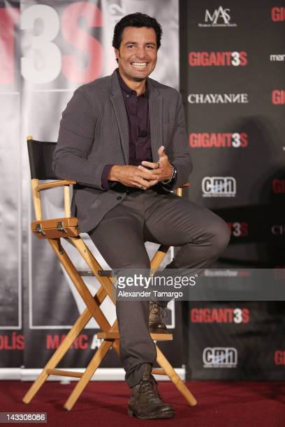 Chayanne attends a press conference to announce tour at American Airlines Arena on April 23 2012 in Miami Florida
