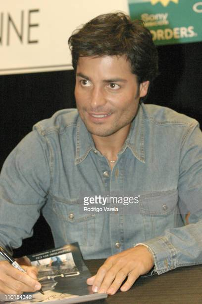 Chayanne during Chayanne in Miami for the Release of his New Album 'Sincero' at Borders Books and Music in Miami Florida United States