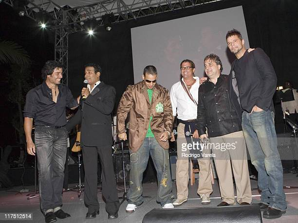 Chayanne Julio Savala Daddy Yankee Carlos Vives Raul Alarcon Jr CEO of SBS and Ricky Martin