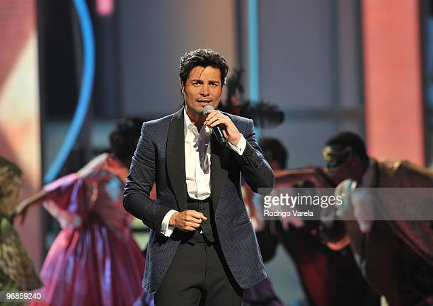 Chayanne on stage at Univisions 2010 Premio Lo Nuestro a La Musica Latina Awards at American Airlines Arena on February 18 2010 in Miami Florida
