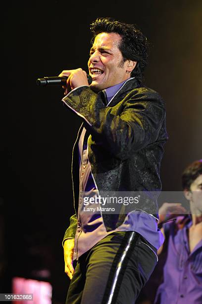 Chayanne performs at American Airlines Arena on June 4 2010 in Miami Florida