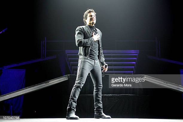 Chayanne performs at Amway Arena on November 20 2010 in Orlando Florida