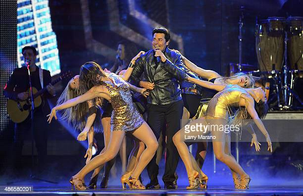 Chayanne performs onstage during the 2014 Billboard Latin Music Awards at Bank United Center on April 24 2014 in Miami Florida