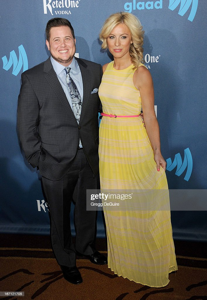 Chaz Bono and Sarah Shriver arrive at the 24th Annual GLAAD Media Awards at JW Marriott Los Angeles at L.A. LIVE on April 20, 2013 in Los Angeles, California.