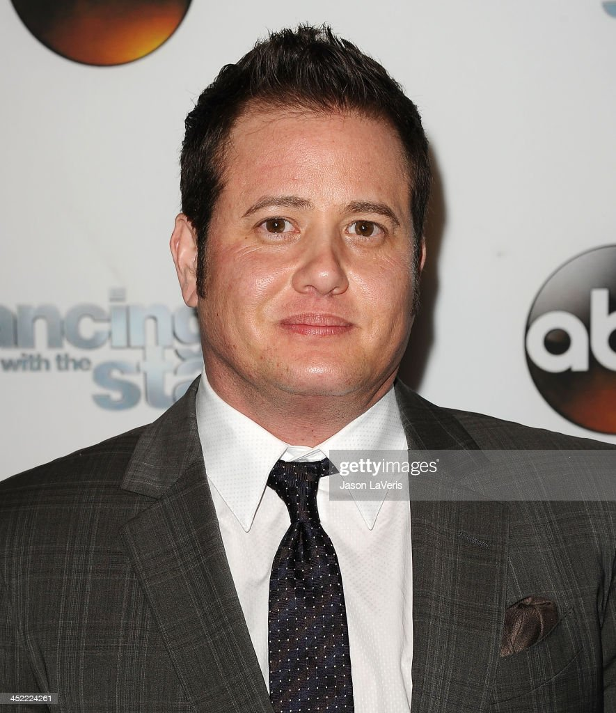 <a gi-track='captionPersonalityLinkClicked' href=/galleries/search?phrase=Chaz+Bono&family=editorial&specificpeople=1364433 ng-click='$event.stopPropagation()'>Chaz Bono</a> attends the 'Dancing With The Stars' wrap party at Sofitel Hotel on November 26, 2013 in Los Angeles, California.