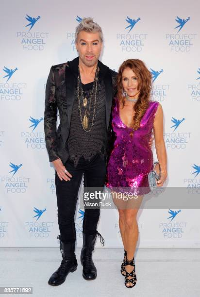 Chaz Dean and guest attend Project Angel Food's 2017 Angel Awards on August 19 2017 in Los Angeles California