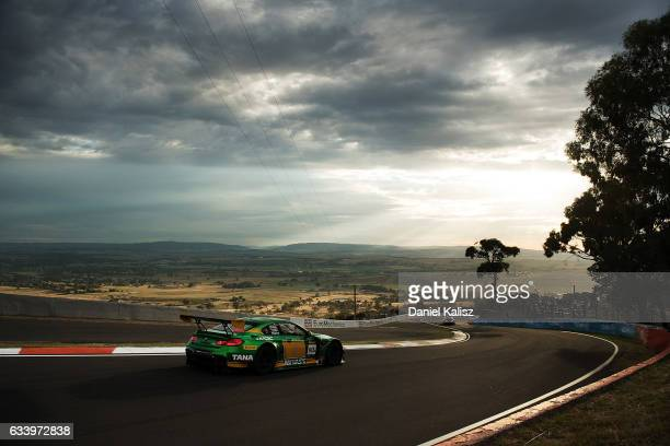 Chaz Mostert drives the MARC Cars Australia BMW M6 GT3 during the 2017 Bathurst 12 hour race at Mount Panorama on February 5 2017 in Bathurst...