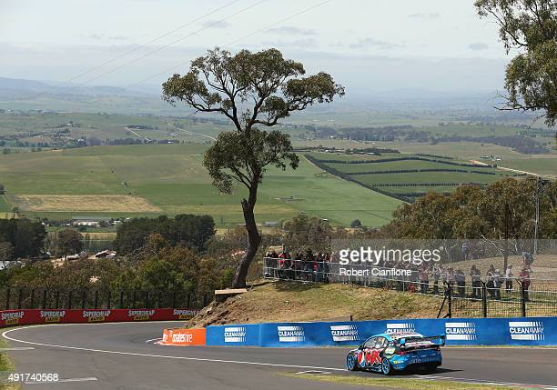 Chaz Mostert drives the Pepsi Max Crew Ford during practice for the Bathurst 1000 which is race 25 of the V8 Supercars Championship at Mount Panorama...