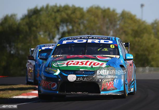 Chaz Mostert drives the Pepsi Max Crew Ford during the Bathurst 1000 which is round 11 and race 30 of the V8 Supercars Championship Series at Mount...