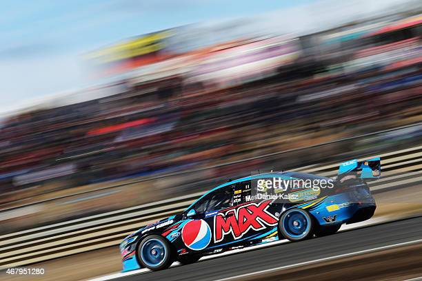 Chaz Mostert drives the Pepsi Max Crew PRA Ford FG X Falcon during Practice 4 for the V8 Supercars Tasmania SuperSprint at Symmons Plains Raceway on...