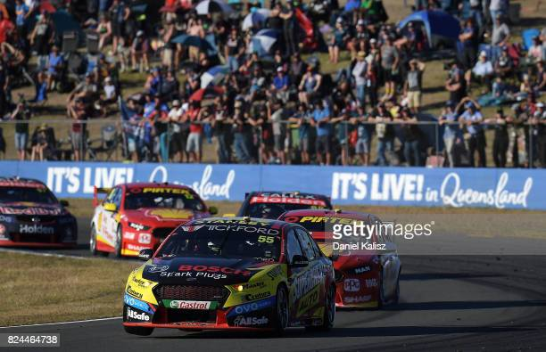 Chaz Mostert drives the Supercheap Auto Racing Ford Falcon FGX during race 16 for the Ipswich SuperSprint which is part of the Supercars Championship...