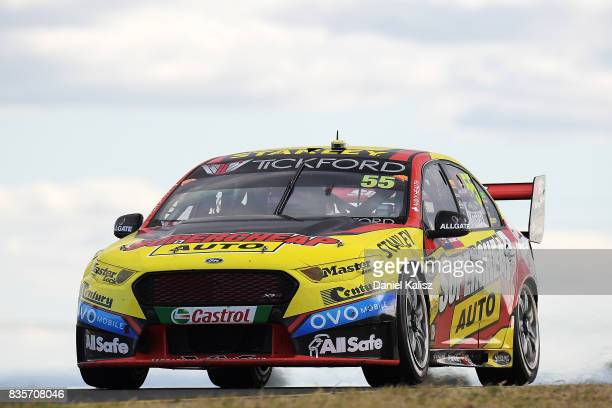 Chaz Mostert drives the Supercheap Auto Racing Ford Falcon FGX during race 18 for the Sydney SuperSprint which is part of the Supercars Championship...