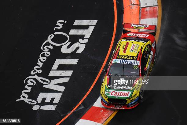 Chaz Mostert drives the Supercheap Auto Racing Ford Falcon FGX during race 21 for the Gold Coast 600 which is part of the Supercars Championship at...