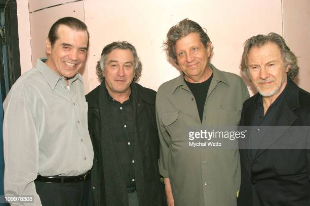 Chazz Palmeintari Robert De Niro Barry Primus Writer/Director and Harvey Keitel