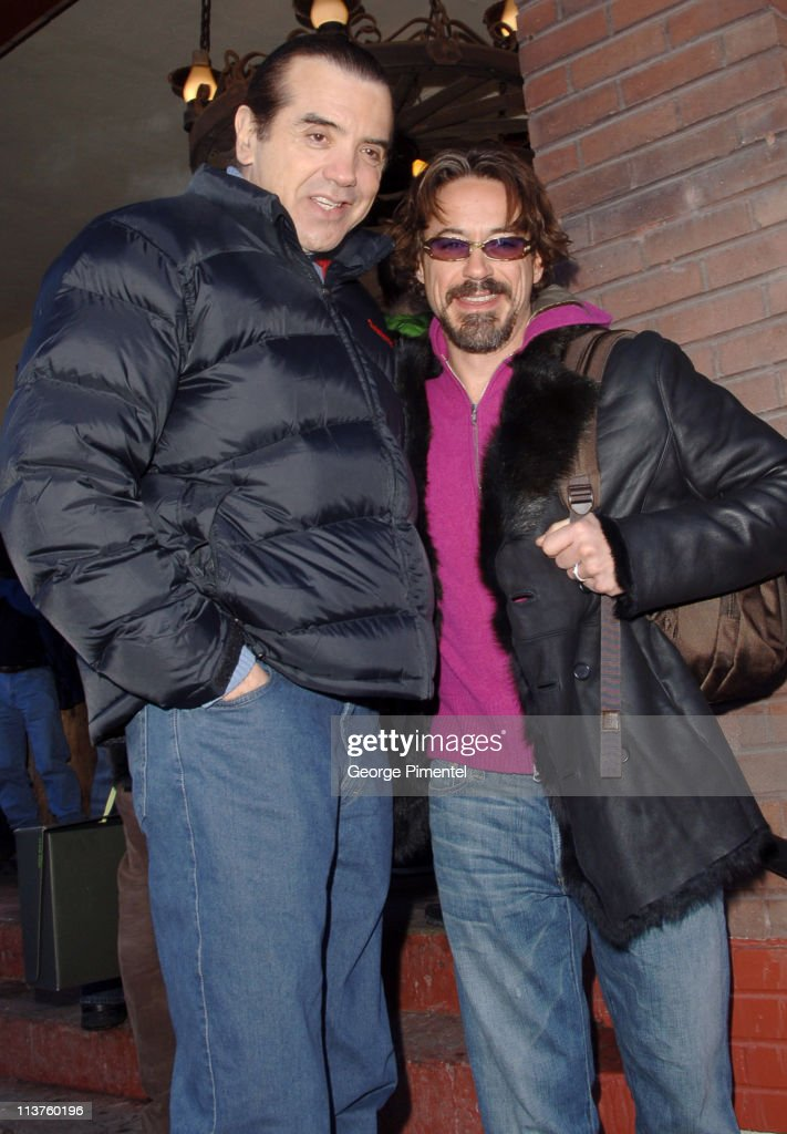 Chazz Palminteri and Robert Downey Jr during 2006 Park City Seen Around Town Day 4 in Park City Utah United States