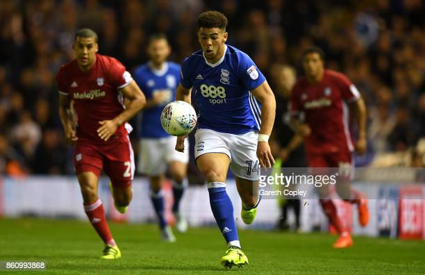 Che Adams of Birmingham runs down the pitch on his way to scoring during the Sky Bet Championship match between Birmingham City and Cardiff City at...