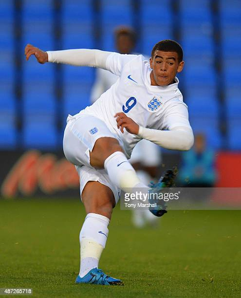 Che Adams of England during the International Match between England U20 and Czech Republic U20 at Greenhous Meadow on September 7 2015 in Shrewsbury...