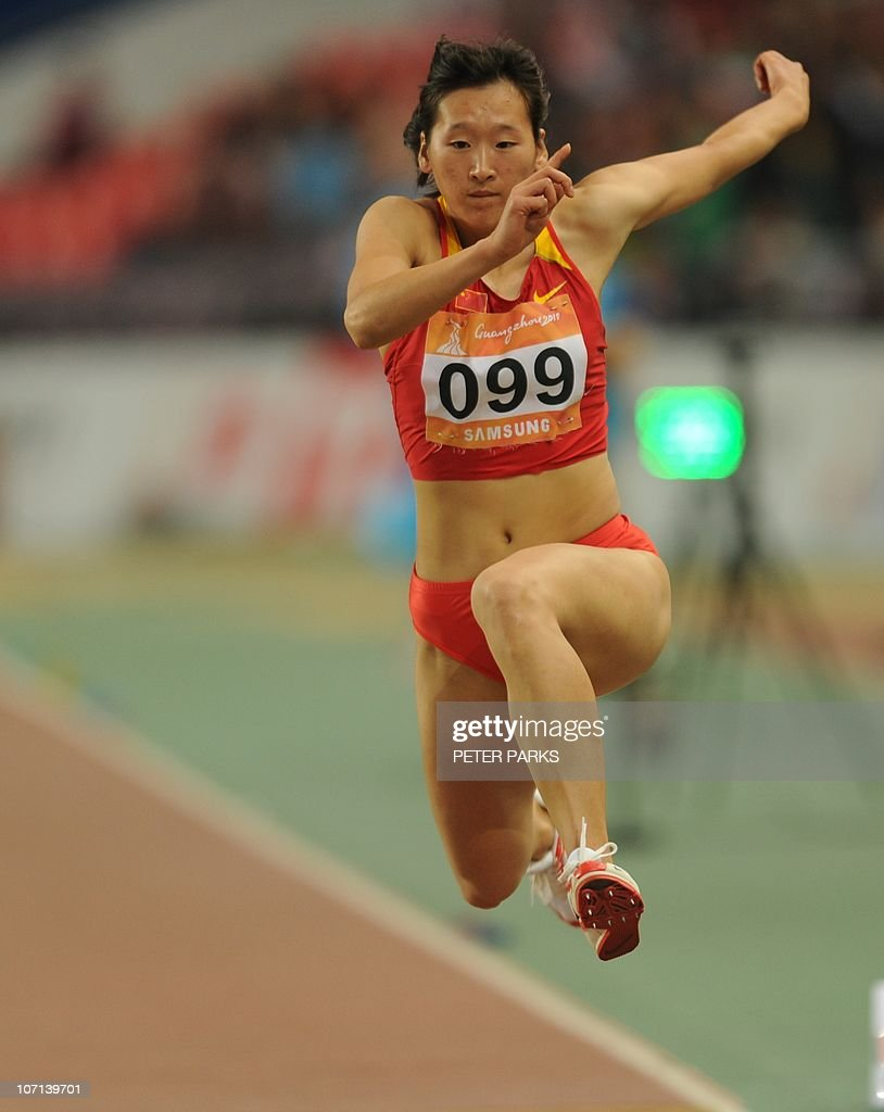 Che Chen Yufei of China petes in the