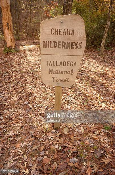 Cheaha Wilderness Talladega National Forest sign