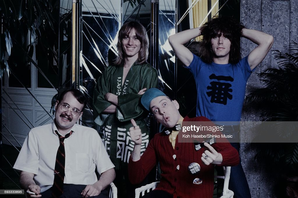 Cheap Trick group shot at a hotel Tokyo April 1978