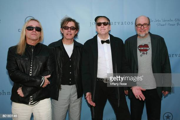 Cheap Trick pose at The John Varvatos 6th Annual Stuart House Benefit on March 9 2008 at the John Varvatos Boutique in West Hollywood California