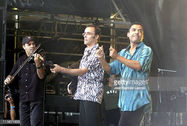 Cheb Mami Concert during Paris 2002 Solidays Festival Cheb Mami Concert at Hippodrome de longchamp in Paris France