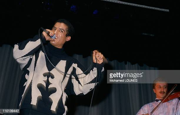 Cheb Mami in concert at Paris Olympia in Paris France on Octorber 18 1986