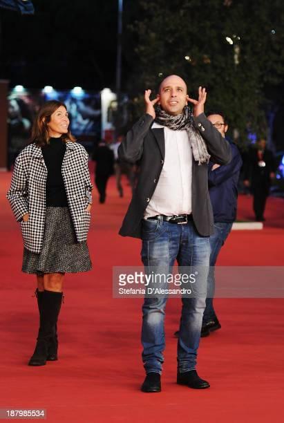 Checco Zalone and Camilla Nesbitt attend 'Checco Zalone' Premiere during The 8th Rome Film Festival on November 14 2013 in Rome Italy