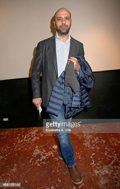 Checco Zalone attends 'Tempo Instabile Con Probabili Schiarite' Screening at Cinema Barberini on March 30 2015 in Rome Italy