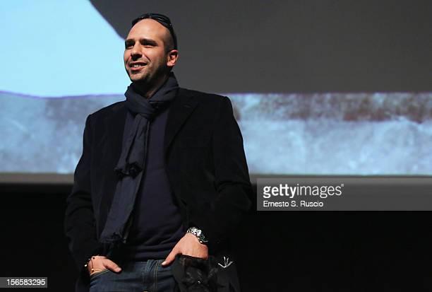 Checco Zalone poses attends the Collateral Awards Ceremony at the 7th Rome Film Festival at the Auditorium Parco Della Musica on November 17 2012 in...