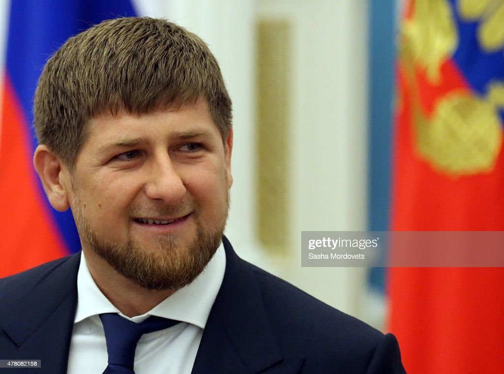 Chechen President <a gi-track='captionPersonalityLinkClicked' href=/galleries/search?phrase=Ramzan+Kadyrov&family=editorial&specificpeople=571490 ng-click='$event.stopPropagation()'>Ramzan Kadyrov</a> attends a ceremony to confer the 'City of Military Glory' title to five Russian towns, at the Kremlin on June 22, 2015 in Moscow, Russia.