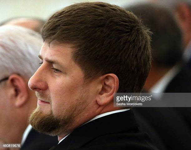 Chechen President Ramzan Kadyrov attends a meeting of State Council and the Presidential Council on Culture and Arts in the Grand Kremlin Palace...