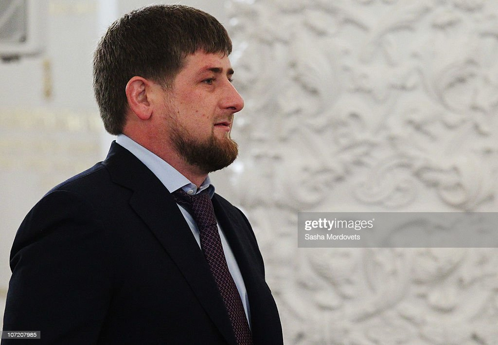 Chechen President <a gi-track='captionPersonalityLinkClicked' href=/galleries/search?phrase=Ramzan+Kadyrov&family=editorial&specificpeople=571490 ng-click='$event.stopPropagation()'>Ramzan Kadyrov</a> attends Russian President Dmitry Medvedev's annual 'state of the nation' address to the Federal Assembly at the Kremlin's Grand Palace on November 30, 2010 in Moscow, Russia. The annual address to the Federal Assembly and Federation Council covers domestic issues and foreign policy.