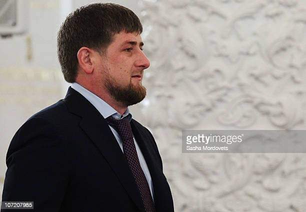 Chechen President Ramzan Kadyrov attends Russian President Dmitry Medvedev's annual 'state of the nation' address to the Federal Assembly at the...