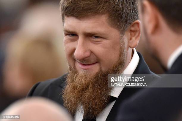 Chechnya's leader Ramzan Kadyrov waits before Russian President Vladimir Putin's Federal Assembly address at the Kremlin in Moscow on December 1 2016...