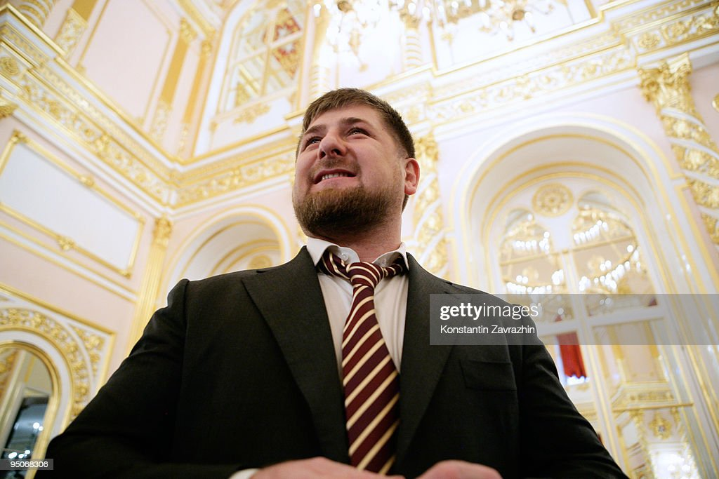 Chechnya's President <a gi-track='captionPersonalityLinkClicked' href=/galleries/search?phrase=Ramzan+Kadyrov&family=editorial&specificpeople=571490 ng-click='$event.stopPropagation()'>Ramzan Kadyrov</a> smiles prior to a State Council Session at the Kremlin on December 23, 2009 in Moscow, Russia. The session was held to discuss the development of information technologies in state services in Russia.