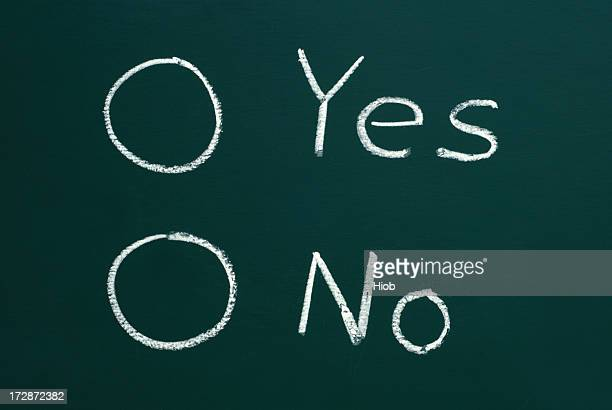 check boxes for yes or no on a blackboard
