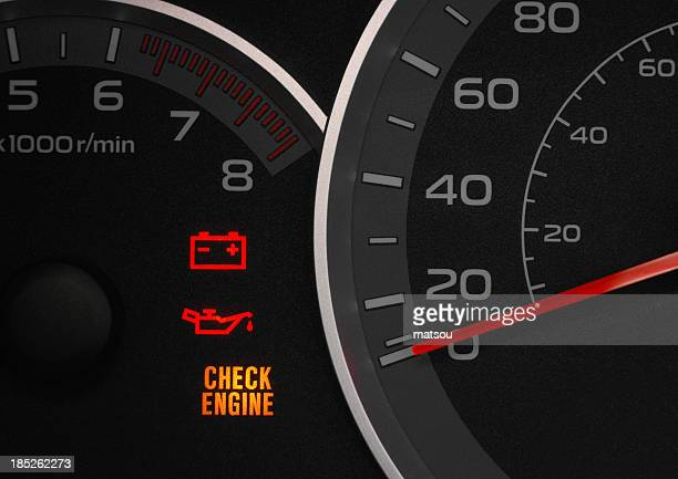 Check engine warning light.
