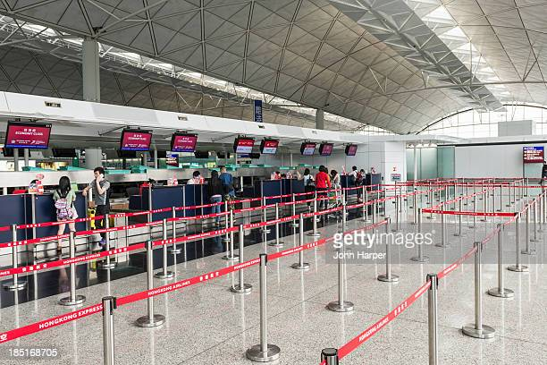 Check in desks, Hong Kong Airport