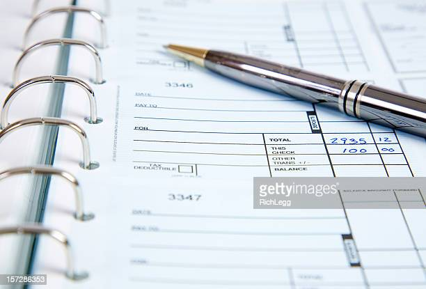 Check Ledger with Pen