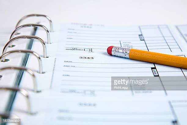 Check Ledger with Pencil