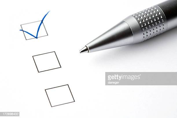 Checkboxes with Ball Pen