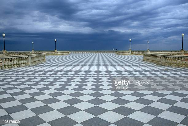 Karierte Boardwalk Promenade am Meer