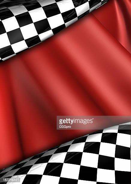 Checkered and red